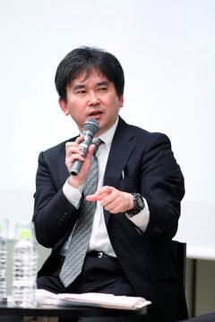 連続ドラマW「マグマ」放送記念トークショーに登壇した真山仁さん (撮影:中川容邦)
