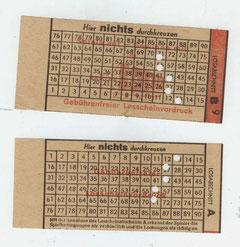 Bild: Postwesen Wünschendorf Erzgebirge Lottoschein