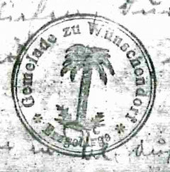 Bild: Gemeindesiegel Wünschendorf Erzgebirge 1924
