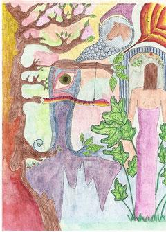 Gedanken Zeichnung von Andrea
