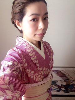 着物 ピンクコーディネート きものレッスンさくらさくら kimono
