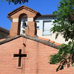 Le coin de jardin et sa chapelle