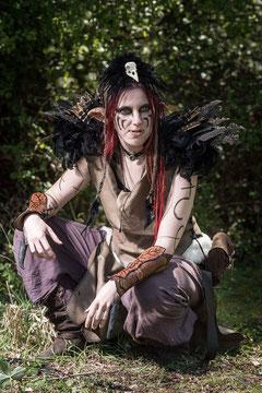 costume cuir troll medieval fantastique