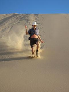 dans les dunes du Gobi