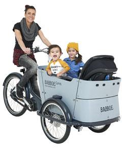 Babboe Curve Mountain Lasten e-Bike, Lastenfahrrad mit Elektromotor, e-Cargobike 2019