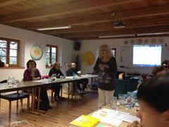 Antonie Peppler während eines Seminars