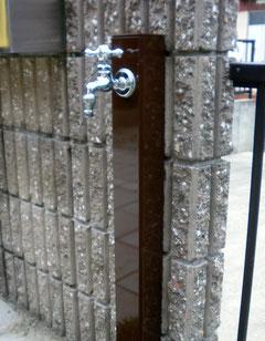 散水栓から立水栓へのリフォーム工事