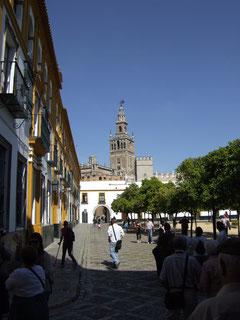 Die Kathedrale von Sevilla vom Alcazar aus gesehen