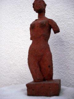 Eine 25cm Tonfigur, modelliert von der noch ganz jungen Michele 1960