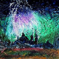 veni creator spiritus  //  komm Schöpfer Geist Acryl-Studie  auf Malpappe - 12 x 12