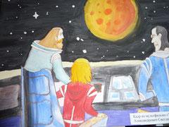Рисунок ко Дню космонавтики (I место)