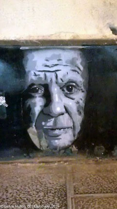 Street Art showing Picasso, Barcelona