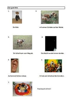 Das Verlorene Schaf als Bildergeschichte