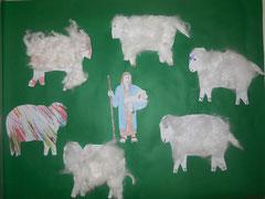 Der gute Hirte mit seinen Schafen, Gemeinschaftsarbeit