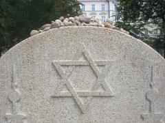 jüdischer Grabstein in Marienbad, 2011