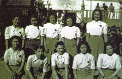 Equip sènior femení 39-40, sotscampiones d'espanya l'any 1942