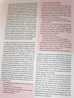 """un extrait du court texte : """"le ruban noué de la liasse, pratique d'archivage et esthétique de l'existence"""" de philippe Artière p 99 du catalogue """"habiter poétiquement....du LaM."""