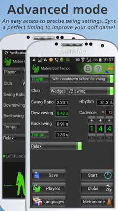 Mobile Golf Tempo - Advanced Mode - Android