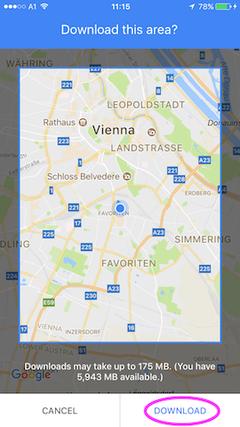 download offline google maps
