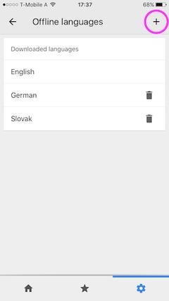 google translate offline langage download