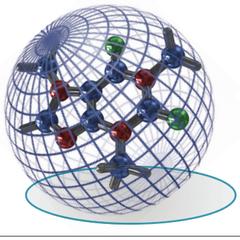 Figura 2. Conformación tridimensional de un ion y su sección transversal promedio