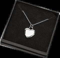 puffed heart charm with chain