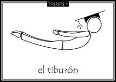 Kinderyoga Ausmalbilder Tiburon