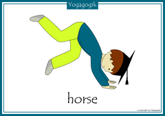 Yoga for Kids Flashcards Horse