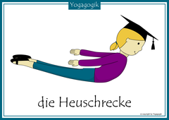 Kinderyoga Flashcards Heuschrecke Yolanda