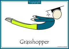 Kinderyoga Flashcards Grasshopper