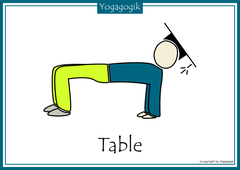 Kinderyoga Flashcards Table