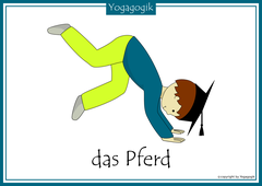 Kinderyoga Flashcards Pferd