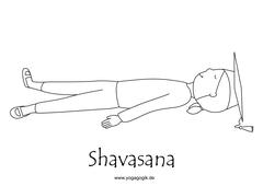Kinderyoga Ausmalbild Shavasana Yolanda