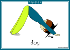 Yoga for Kids Flashcards Dog