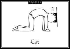 Kinderyoga Ausmalbilder Cat