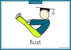 Kinderyoga Flashcards Boat