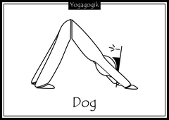 Kinderyoga Ausmalbilder Dog