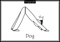 Kinderyoga Ausmalbilder Dog