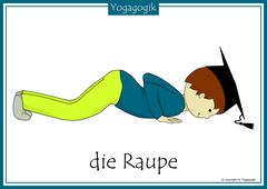 Kinderyoga Flashcards Raupe