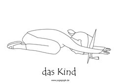 Kinderyoga Ausmalbild Kind