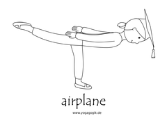 Yoga for Kids Flashcards Airplane