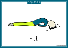 Kinderyoga Flashcards Fish