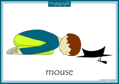Yoga for Kids Flashcards Mouse