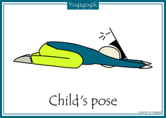 Kinderyoga Flashcards Child Pose