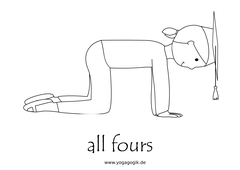 Yoga for Kids Flashcards All Fours
