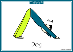 Kinderyoga Flashcards Dog