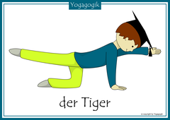 Kinderyoga Flashcards Tiger