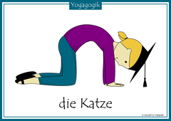 Kinderyoga Flashcards Katze
