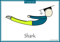 Kinderyoga Flashcards Shark