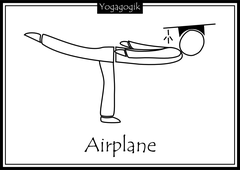 Kinderyoga Ausmalbilder Airplane
